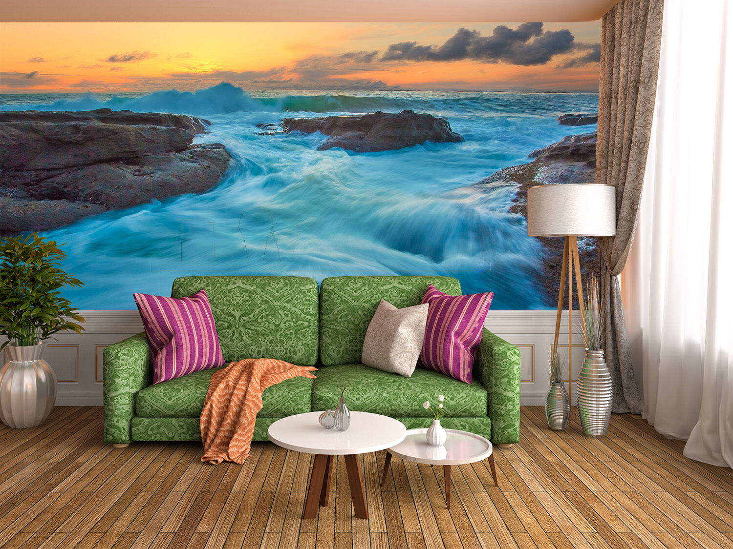 3D Blau sea, sky 6767 Wall Paper Print Wall Decal Deco Indoor Wall Murals