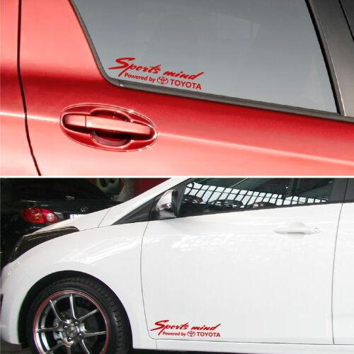 Sports mind powered by Toyota #7 Decal Sticker Graphics Highlander Fortuner I