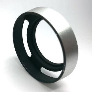 58mm-Curved-Vented-Filter-Lens-Hood-Silver-for-Leica-M-Voigtlander-Zeiss-Lens