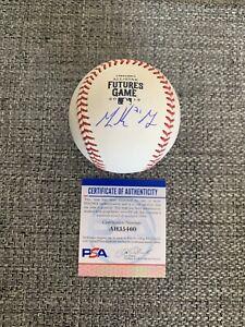 Mackenzie Gore Signed 2019 All Star Futures Game Baseball Psa/Dna Coa ~ Padres