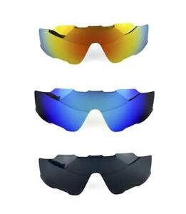 NEW POLARIZED FIRE BLUE BLACK REPLACEMENT LENS FOR OAKLEY JAWBREAKER ... 49adeb4de707