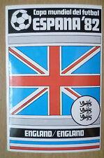 1982 COPA MUNDIAL DEL FUTBOL STICKER- ENGLAND/ENGLAND- ESPANA 82 (12x8 cm)