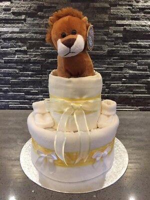 Unisex Nappy Cake Neutral Nappy Cake Baby Gift Set Baby Shower Gift