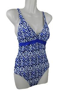 Größe 40 Top Design Neue Produkte Details zu Schiesser Damen Einteiler Badeanzug Bademode blau weiss 38 B