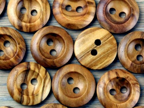 Crendon Round 2 Hole Chunky Wood Buttons 2B\2378-M