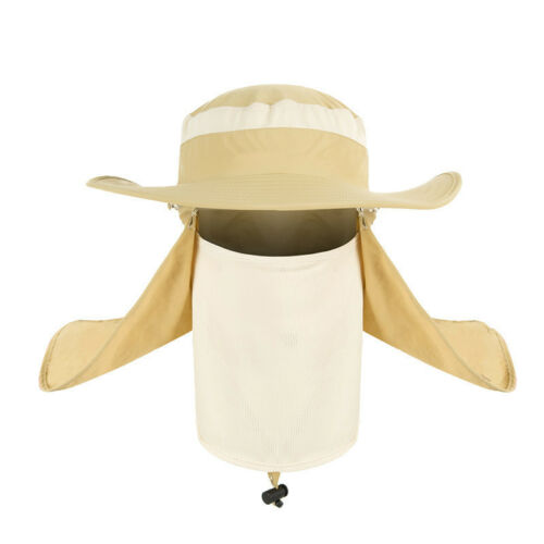 Unisex Hiking Fishing Hat Outdoor Sport Sun Protection Neck Face Cap Wide Brim