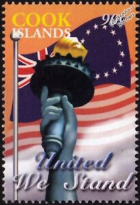 Architecture Delicious United We Stand Statue Of Liberty Wtc New York Memorial Stamp/2003 Cook Islands Latest Fashion