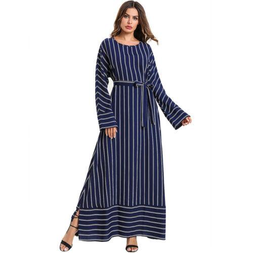 Les femmes embroidey Maxi Robe Longue Cocktail Musulman Abaya Islam Caftan Dubai Jilbab