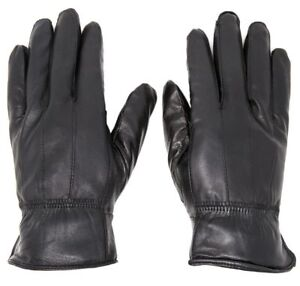 Women-039-s-Winter-Warm-Black-Genuine-Leather-Gloves-Insulation-Lambskin-Gloves