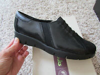 Clarks Daelyn Vista Black Leather Shoes Womens 7 Comfort Shoes Free Ship