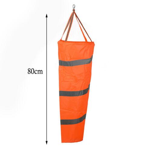 "0.8M//1M  Airport Windsock 30/"" Long Outdoor Wind SOCK W// Reflective Belts Grommet"