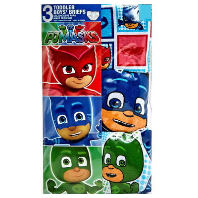 Mickey Mouse PJ Masks Paw Patrol 3 Pack Toddler Boys Underwear 2T-3T