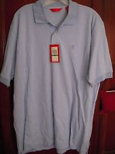 Mens Izod Luxury Sport Polo Style Shirt Blue Striped Soft NWT  Large