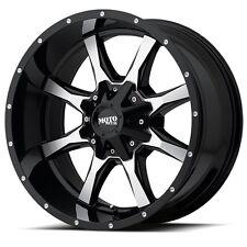 17 Inch Black Wheels Rims Chevy 2500 3500 Dodge Ram Truck 8 Lug Moto Metal 17x9
