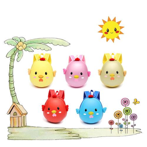 DV/_ 3D Chick Egg Shell Backpack Children Boys Girls Kindergarten School Bag Sple