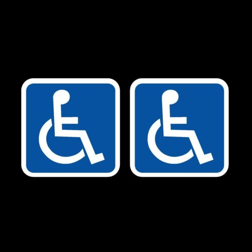 2 x Disabled Car Stickers 75x75mm Blue Badge Mobility Window Decal Vinyl