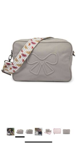Pink Lining Hoxton Vegan Leather Cross Body Baby Changing Bag Grey RRP £95