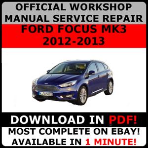 ford focus 2012 repair manual pdf