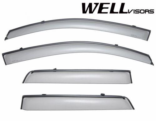 WellVisors For 11-18 Mitsubishi Outlander Sport BLACK TRIM Side Window Visors