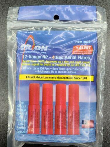 4 Pack NEUF ORION de sécurité aérienne Flare Recharge gabarit 12 G EXP 2023 rouge