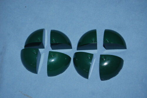 T LEGO Lot 8 Dark Green 3 x 3 x 2 Dome Corner Brick 88293 Creator 10211