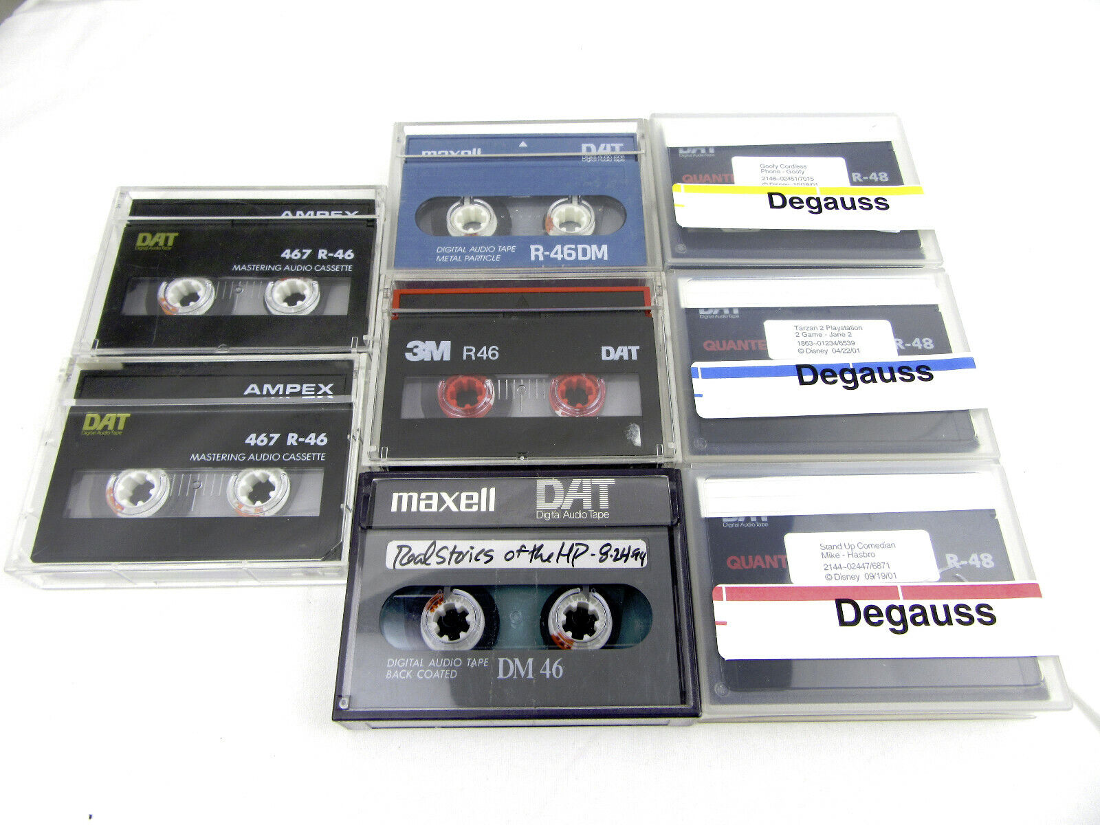 DAT Tapes R 46-48, Set of 8 - Used, Free Shipping