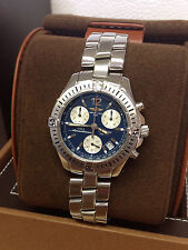 Breitling Colt Chronograph A53050 Blue Dial 38mm - Box & Paperwork - Serviced!