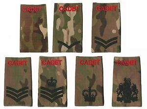 ACF-CCF-Army-amp-Combined-Cadet-Force-Rank-Slides-MTP-Single-or-Pair