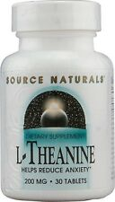 Source Naturals Serene Science L Theanine 200 mg 30 Tablet 30 tab