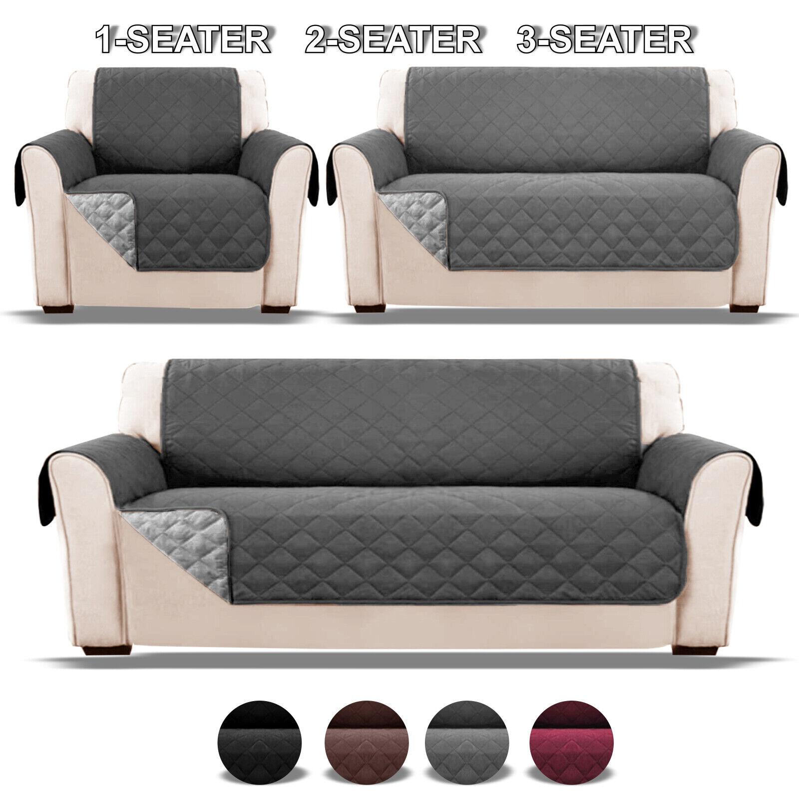 Quilted Waterproof Sofa Slip Covers Anti Slip Pet Furniture Sofa