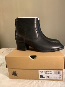 bedfd1331ae Details about UGG 1098310 BANDARA ANKLE FASHION NEW WOMAN'S BOOT BLACK  AUTHENTIC SIZE 9
