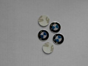 2x Schlüsselemblem  BMW -Logo  + 3D Aufkleber + Kunststoffbasis + 14mm +NEU+