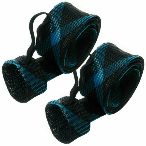 Black-Blue 2-Pack Reaction Tackle Fishing Rod Cover// Rod Sleeve// Rod Sock