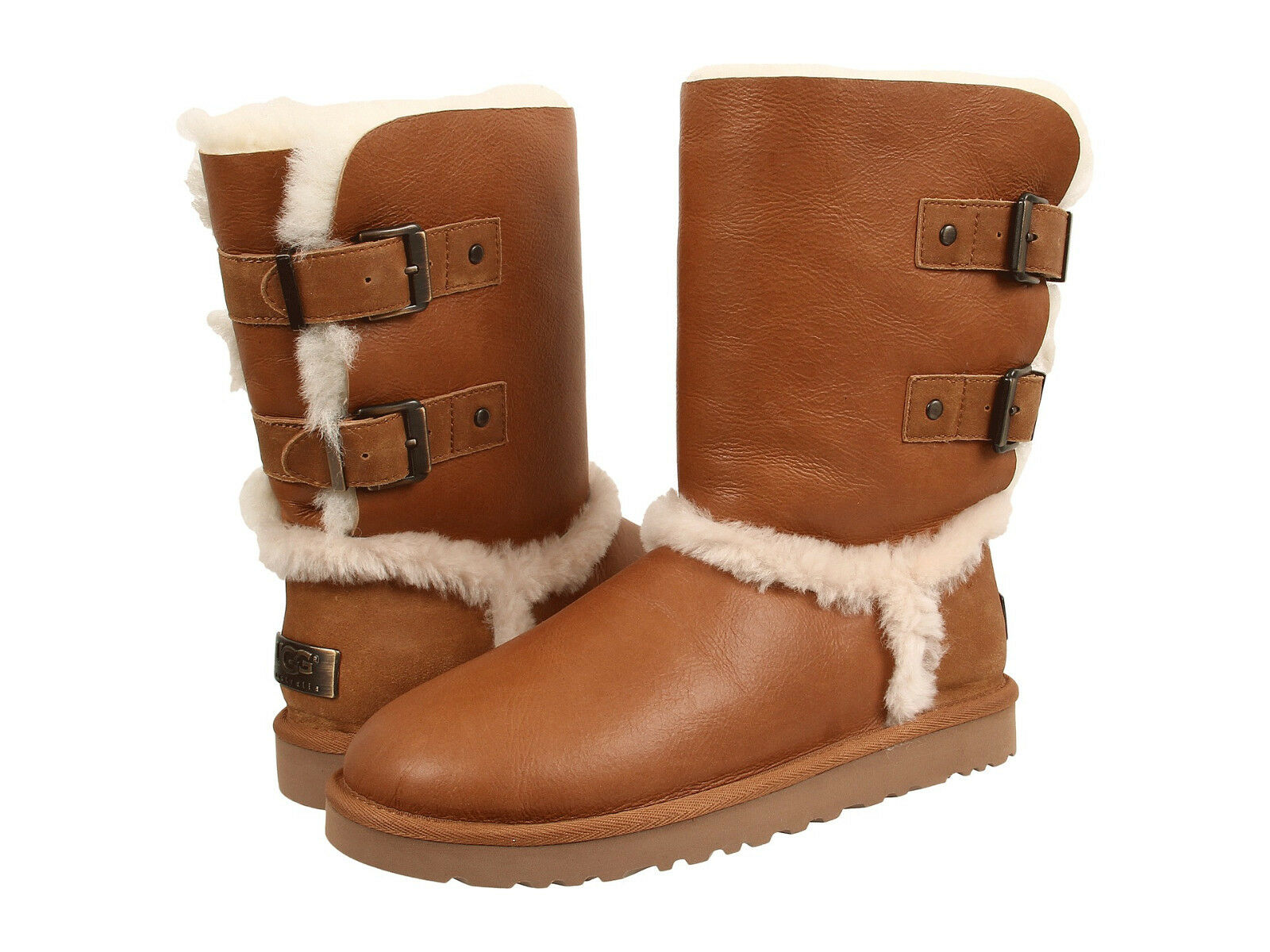 a63e3a34ee9 Women UGG Australia Skylah Boot 1008229 V. Chestnut Leather 100% Authentic  B New
