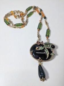 f8e2da8860508 Sweet Romance Dragon Big Chunky Beaded Glass Crystal Rhinestone ...