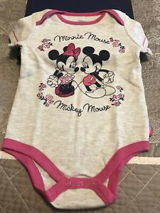 Disney Baby 2-pack Bodysuit *MICKEY MOUSE* 12 Mos