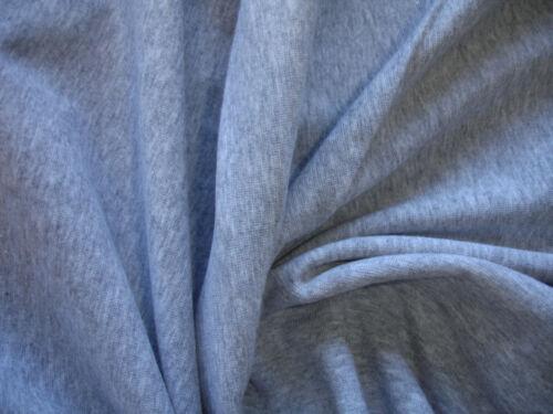 Jersey 3,10 €//m² interlock algodón gris claro jaspeadas METERWARE sb4