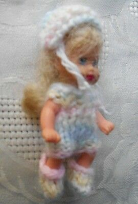 Doll Clothes 3 pc Outfit for Mini Baby Polymer Clay Artist ooak or Krissy 2.5""
