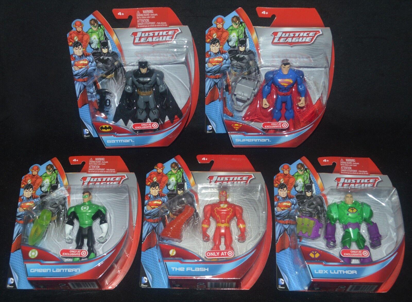 Justice league batman, superman, spiderman, flash & lex luthor ziel selten