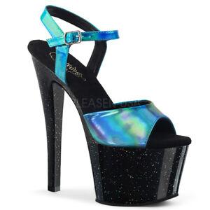 Pole Sandali Sky Hologram tacco Stiletto con 309hg Turquoise Pleaser Dancing qHwZnxI1wF