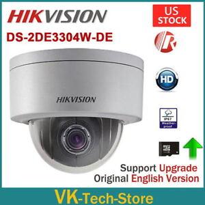 Details about HIKVISION DS-2DE3304W-DE 3MP PTZ 4X Zoom Dome Network IP HD  Camera P2P 2 8~12mm