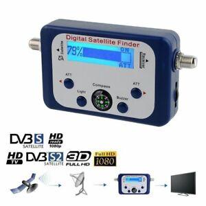 Mini Satellite Signal Finder Compteur Numérique SAT LCD Affichage Boussole