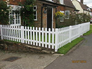 Image Is Loading White Primed Wooden Picket Fencing