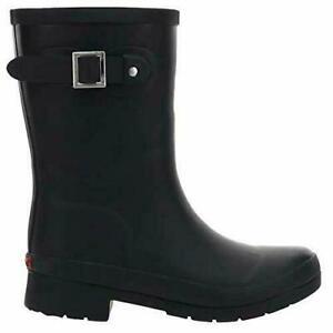 Details about  /Chooka Ladies Mid Height Rain Boot Black//Gray Sizes 6-11 Handmade Waterproof