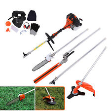 Multifunctional 52CC 5 in 1 Petrol Hedge Trimmer Strimmer Chainsaw Brush Cutter