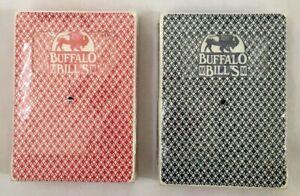 Lot-of-2-Playing-Cards-Buffalo-Bills-Hotel-n-Casino-Las-Vegas-Red-and-Blue-Decks