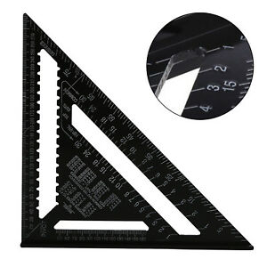 12-Inch-ROOFING-SPEED-SQUARE-ALUMINIUM-RAFTER-ANGLE-FRAME-MEASURE-TRIANGLE-RULER