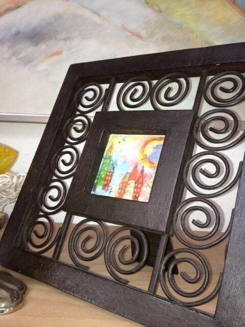 Billedrammer/ pynterammer, /African handmade, købt i