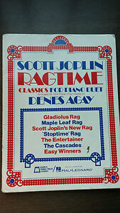 Relatively-NEW-SCOTT-JOPLIN-RAGTIME-Classics-for-Piano-Duet-10-50-off
