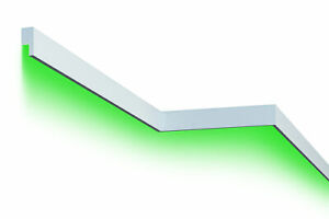 2 Meter LED Fassadenleiste indirekte Beleuchtung stoßfest 65x30mm MC301 LED